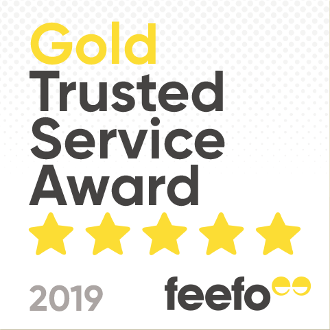 5 Star Reviews Feefo Gold Trusted Service Award